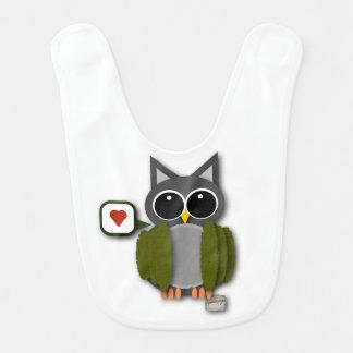 Baby Owl Love Bib