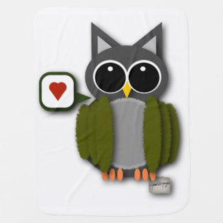 Baby Owl Love Blanket