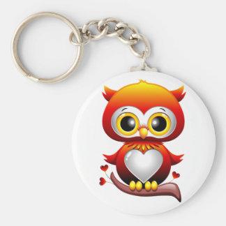 Baby Owl Love Heart Cartoon Keychain
