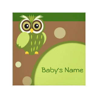 Baby Owl/ Nursery Decor Stretched Canvas Print