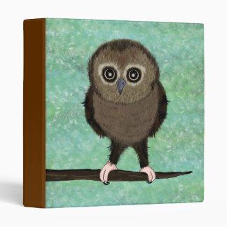 Baby Owl on Green Custom Binder