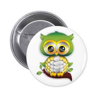 Baby Owl Paper Craft Button