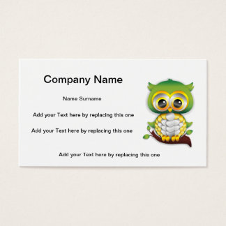 Baby Owl Paper Craft Design Business Card