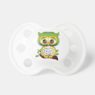 Baby Owl Paper Craft Design Pacifier