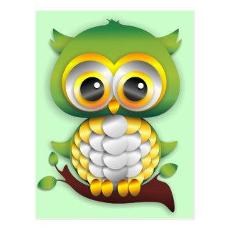 Baby Owl Paper Craft Design Postcard