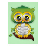 Baby Owl Paper Craft Design Poster