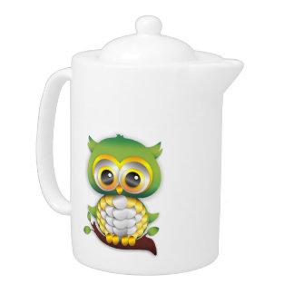 Baby Owl Paper Craft Design Teapot