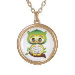 Baby Owl Paper Craft Necklace