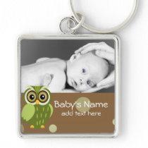 Baby Owl/Photo Keychain
