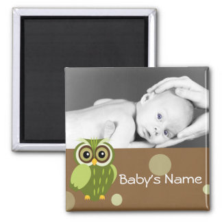 Baby Owl/ Photo Magnet