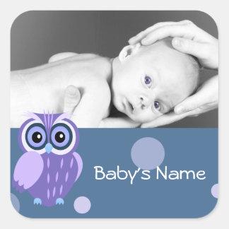 Baby Owl/ Photo Square Sticker