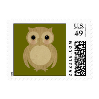 Baby Owl Postage Stamp