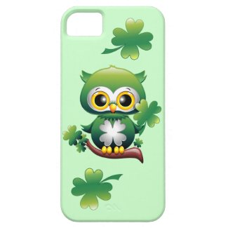 Baby Owl St Patrick Cartoon iPhone 5 Case