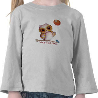 Baby Owl Toddler Long Sleeve Tshirt