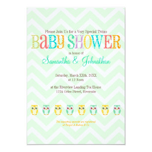 Unknown gender baby shower invitations announcements zazzle baby owl twins gender reveal unknown invitation filmwisefo