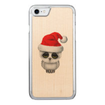 Baby Owl Wearing a Santa Hat Carved iPhone 8/7 Case