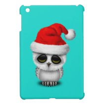 Baby Owl Wearing a Santa Hat Case For The iPad Mini