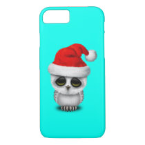 Baby Owl Wearing a Santa Hat iPhone 8/7 Case