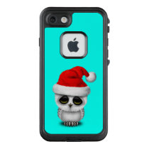 Baby Owl Wearing a Santa Hat LifeProof FRĒ iPhone 7 Case