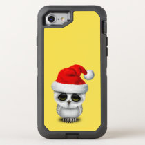 Baby Owl Wearing a Santa Hat OtterBox Defender iPhone 8/7 Case
