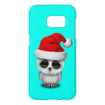 Baby Owl Wearing a Santa Hat Samsung Galaxy S7 Case