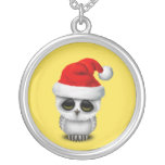 Baby Owl Wearing a Santa Hat Silver Plated Necklace