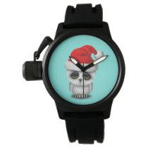 Baby Owl Wearing a Santa Hat Wristwatch