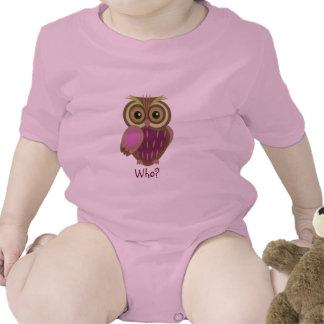 Baby Owl~ who Baby Bodysuit