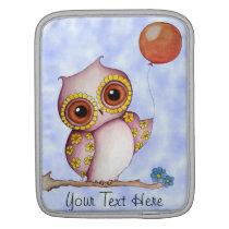 Baby Owl with Balloon Customizable iPad Sleeve