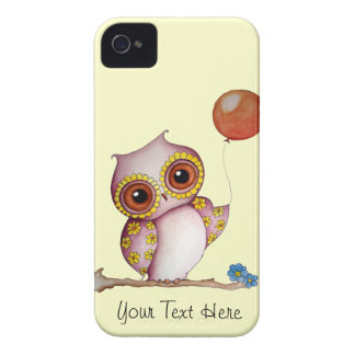Baby Owl with Balloon iPhone 4 Case