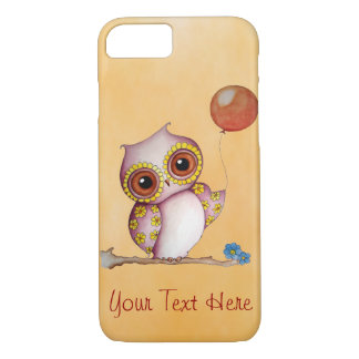 Baby Owl with Balloon iPhone 7 Case