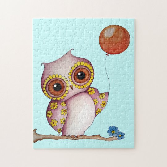 Baby Owl with Balloon Puzzle