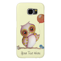 Baby Owl with Balloon Samsung Galaxy S6 Case