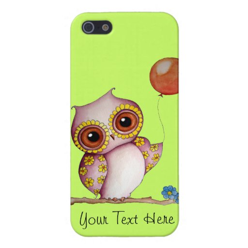 Baby Owl with Balloon Savvy iPhone 5 Glossy Case