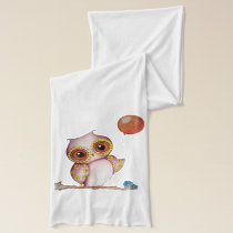 Baby Owl with Balloon Scarf