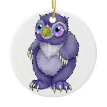 Baby Owlbear Ceramic Ornament