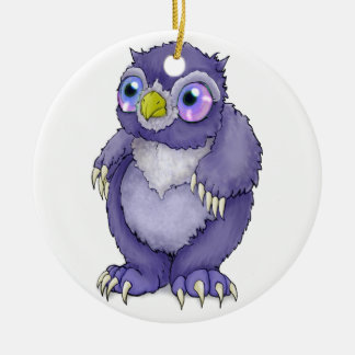 Baby Owlbear Ceramic Ornament