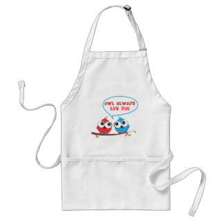 baby owls adult apron