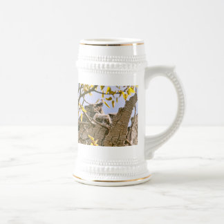 Baby Owls and Mother Owl in a Nest Beer Stein