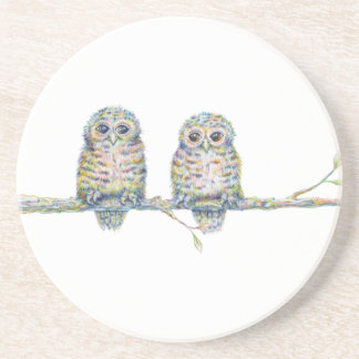 Baby Owls - 'Connection' Drink Coasters