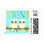Baby Owls - Gender Neutral Twins Postage Stamps