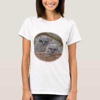 Baby Owls in a Wicker Basket Nest T-Shirt