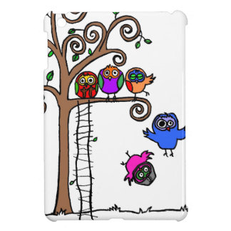 Baby Owls Learning to Fly Cover For The iPad Mini