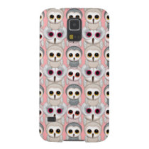 Baby Owls On Pale Pink Background Pattern Galaxy S5 Cover