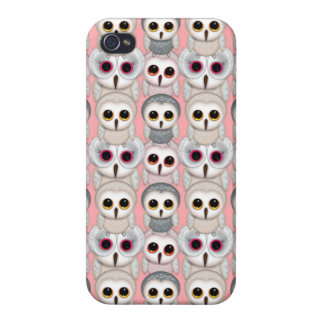 Baby Owls on Pink Pattern iPhone 4 Case