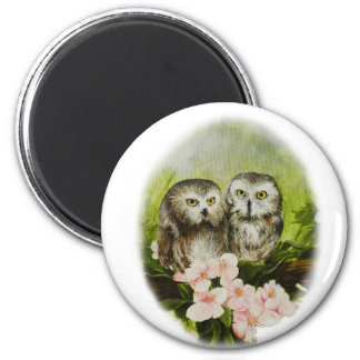 Baby Owls painting on customizable products Magnet