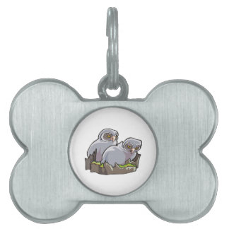 Baby Owls Pet Name Tag