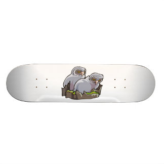 Baby Owls Custom Skateboard