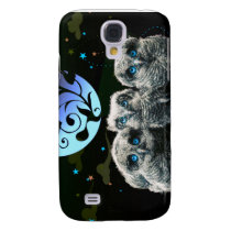 Baby Owls Under The Moonlight Galaxy S4 Cover