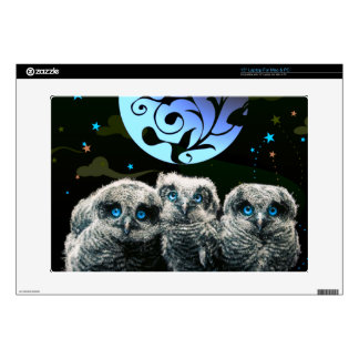 Baby Owls Under The Moonlight Laptop Skins